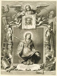 Maria als Mater Dolorosa, Cornelis Galle (II), Anthony van Dyck, 1638 - 1678 Christian Mysticism, Christian Religions, Religious Images, Religious Art, Anthony Van Dyck, Our Lady Of Sorrows, Religious Tattoos, Catholic Art, Angels And Demons