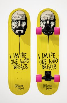 Breaking Board | Das Breaking Bad Skateboard -  Cleveres Walter White / Heisenberg Skateboard Design