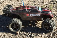 Traxxas RC E Revo Bashing At Our New Place