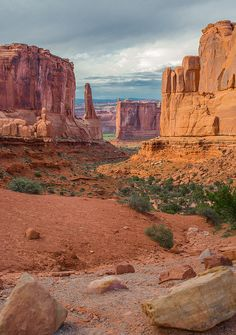 """rustictxranch: """"Park Avenue at dusk, Arches National Park"""". rustictxranch: """"Park Avenue at dusk, Arches National Park"""". Us National Parks, Zion National Park, National Forest, Arches Nationalpark, Yellowstone Nationalpark, North Cascades, Great Smoky Mountains, Death Valley, Arches Np"""