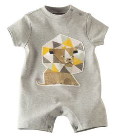 Ain't no lion - he'll be delighted to wear this comfy, cool romper in 100% cotton with geometric lion design. Made exclusively for Hallmarkbaby.com.