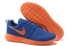online store c68f7 d9323 UK Trainers Roshe One Nike Roshe Run Mesh Junior Mens Dark Blue Orange Draw  Black