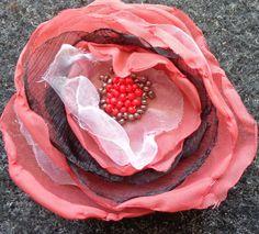 Handmade Flower Art Textile Corsage brooch Pin