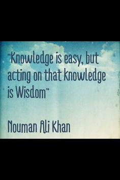 Islam; Nouman Ali Khan