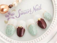 ミントチョコネイルが変わってて可愛い♪食べちゃいたいデザインネイル   ギャザリー