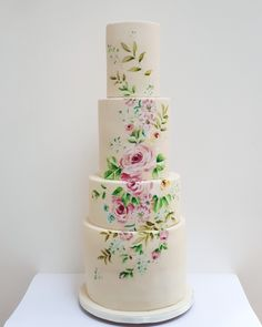 One of last week's wedding cakes, a pastel dream. It was for the gorgeous a really lovely venue. Cupcake Cookies, Cupcakes, Painted Wedding Cake, Pie Cake, Wedding Cake Inspiration, Cake Designs, Cake Decorating, Wedding Cakes, Decorated Cakes