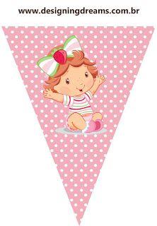 KIT FESTA PRONTA MORANGUINHO BABY GRÁTIS PARA BAIXAR Strawberry Shortcake Party, Baby Shower, Candy Wrappers, Alice, Pikachu, Birthday Parties, Birthdays, Banner, Clip Art