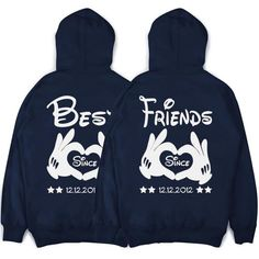 Best Friends Sweater in SET BFF friendship hoodies with your requested date - Bestie Shirts - Ideas of Bestie Shirts - Best Friends Sweater in SET BFF friendship hoodies with your requested date Best Friend Matching Shirts, Best Friend T Shirts, Matching Hoodies, Best Friend Outfits, Best Friend Gifts, Best Friends, Best Friend Clothes, Bff Clothes, Best Friend Stuff