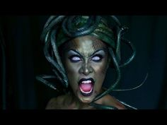 MEDUSA Makeup + Headpiece Tutorial: Halloween - YouTube