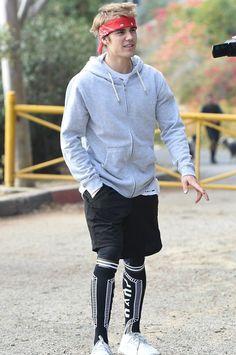Justin Bieber wearing  KTZ Intarsia Knit Socks, Adidas Uncaged LTD Sneakers