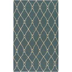 $73.00 - $1238Jill Rosenwald Rugs Fallon Turquoise/Ivory Rug