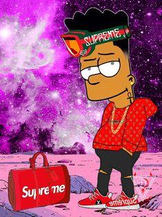 Bart  - Simpson Goku Wallpaper, Hype Wallpaper, Cartoon Wallpaper, Supreme Iphone Wallpaper, Simpson Wallpaper Iphone, Simpsons Drawings, Simpsons Art, Dope Cartoons, Dope Cartoon Art