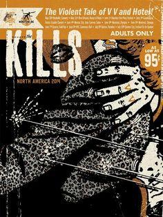 The Kills tour poster by Ryan Besch
