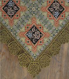 Καρέ Βυζαντινού Τύπου 110x110cm Tradition - Πλεκτές Γωνίες & Καρε | Pennie® Bohemian Rug, Traditional, Embroidery, Rugs, Cross Stitches, Watches, Image, Pattern, Farmhouse Rugs