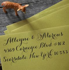 Custom Address Stamp - Calligraphy Eco Stamp