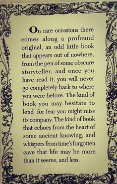 'Read...this quote is why writers write and why readers read...brilliant!'