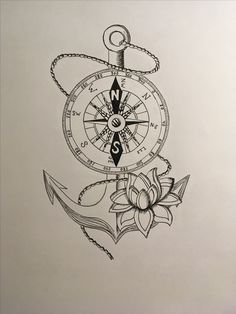 Ancre et boussole ⚓️ # dessin # tatouage # ancre # boussole # noir et blanc - Ancre et boussole ⚓️ wh You are in the right plac - Map Tattoos, Anchor Tattoos, Arrow Tattoos, Body Art Tattoos, Tattoo Drawings, Bird Tattoos, Feather Tattoos, Nature Tattoos, Tattos
