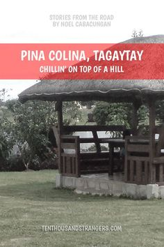 Piña Colina resort is a cluster of log houses sitting on top of a hill here in Tagaytay City. It is best for seminars, company plannings, conventions, debut and wedding receptions. Sit On Top, House Sitting, Tagaytay Philippines, Travelogue, Wedding Receptions, Log Homes, Asia Travel, Southeast Asia, Travel Destinations