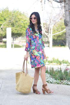 Anthropologie Tropicalist Shift Dress