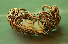 copper brass silver coated copper wire opalite by CopperFinger