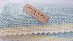 Crochet Baby Blanket Handmade Unisex New Baby Gift by MinnieandFlo