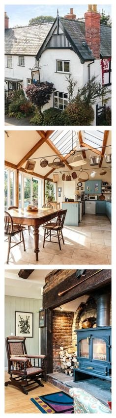 If you are more of a homebody, you will love to entertain in this Wales-based cottage. Built in the 1580s to serve as a hotel, this cozy building was later converted to a home with unique characteristics. The bar turned dining room, vaulted kitchen with beaming skylight, and huge wood-burning stove are some of our favorite features. There's also plenty of space for guests: 5 bedrooms in total! There is also a landscaped backyard you can access through a pair of French doors.