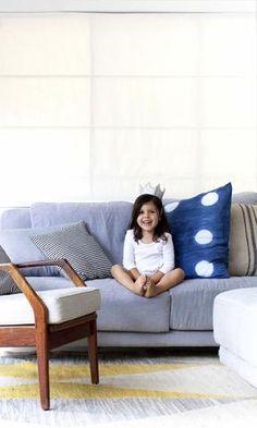 Kusama - oversized linen cushion