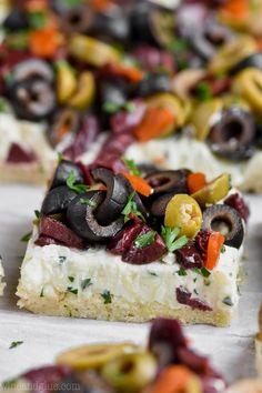 Olive Pizza Appetizer