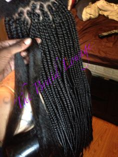 Individual braids done by The Braid Lounge. Located in Los Angeles.