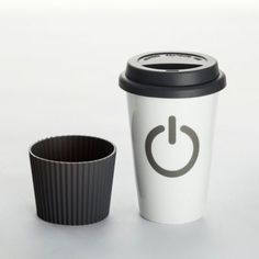 "Coffee-to-go-Becher ""Power on"""