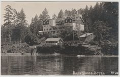 The Brentwood Bay Hotel on the Saanich Peninsula on Vancouver Island. Vancouver Island, Vintage Travel, Hotel Victoria, Canada, History, Places, Painting, Memories, Memoirs
