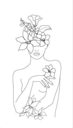 Simple Line Drawings, Easy Drawings, Abstract Face Art, Outline Art, Line Art Design, Embroidery Art, Doodle Art, Female Art, Art Inspo