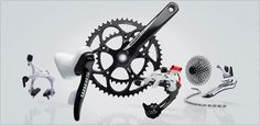SRAM Apex I would like it in black Commuter Bike, Bicycle Components, Road Bikes, Touring, Cycling, Bicycles, Fork, Black, Im A Mess