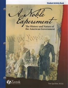 """""""An exciting one-semester (16 week) study of government. Utilizes primary source documents to teach the history and principles of our democratic republic. From our research, there is nothing quite like this on the market.  Course materials include a consumable student workbook, a a teacher resource CD, and twenty-four video lessons on DVD. The student workbook contains all primary source readings, required and optional student activities, and unit assessments to accompany the DVD lessons."""""""