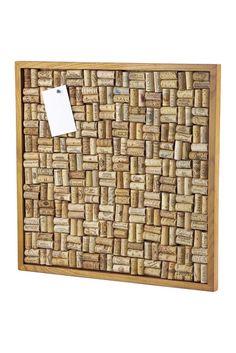 Large Cork Board Kit Maple Stain