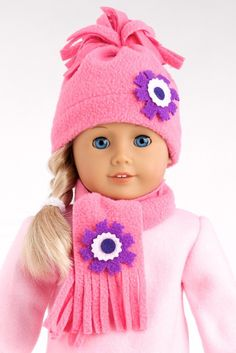 Amazon.com: Hat and Scarf - American Girl Doll Clothes: Toys & Games