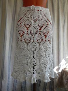 Crochet Beach Dress, Crochet Skirts, Knit Skirt, Crochet Clothes, Dress Skirt, Crochet Hooks, Knit Crochet, Hobbies And Crafts, Crochet Patterns