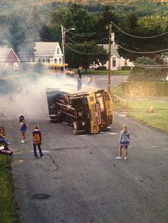Bus Fire, 2002 from the Twilight series by Gregory Crewdson