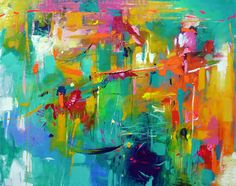 """""""Abstract"""" Oil on canvas by Judith Dalozzo 120x150cm"""