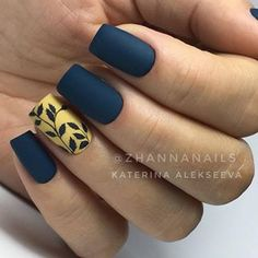 Hottest Fall Matte Nail Art Designs Ideas - Nail Art Connect Autumn will come,need to change the summer nail ideas. There are new nail ideas in every season, but matte nails always Fall Nail Art Designs, Acrylic Nail Designs, Stylish Nails, Trendy Nails, Matte Acrylic Nails, Matte Nail Polish, Gradient Nails, Gel Polish, Nagel Gel