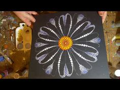 How to paint mandala for BEGINNERS!!#7 Multicolor Flower Tutorial(medium hard) - YouTube