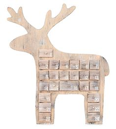 Create a rustic take on Christmas by countinh down the days in style with Gisela Graham's wooden advent calendar. Carved ina a pared-back minimalist style, it's a heart-warming take on traditional calendars and lends a relaxed Scandinavian look. Advent Calendars For Kids, Wooden Advent Calendar, Deer Silhouette, Gisela Graham, Christmas Trends, Days Until Christmas, Small Drawers, Reindeer, Carving