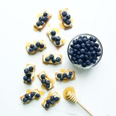 #berry #blueberry #honey #flatlay #food #foodstyling