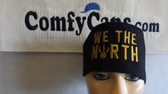 We the North logo embroidered on a male scrub cap.