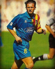 Predrag Mijatovic Valencia CF 1993-1996  #mijatovic #valencia #valenciacf #yugoslavia #montenegro #laliga by retro_football_photo