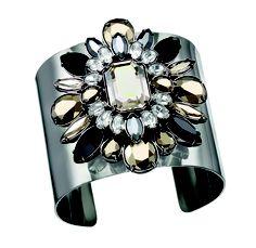 Swarovski by Shourouk Cuff #bracelet #flower #diamond #bling #silver