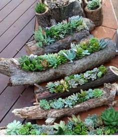 I love this idea and living in the country, its a great way to recycle limbs.