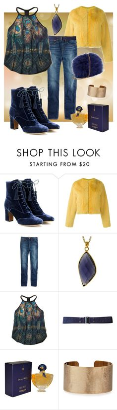 """peacock"" by i-rusche on Polyvore featuring Tabitha Simmons, Liska, Madewell, Hollister Co., MARC CAIN, Guerlain and Panacea"