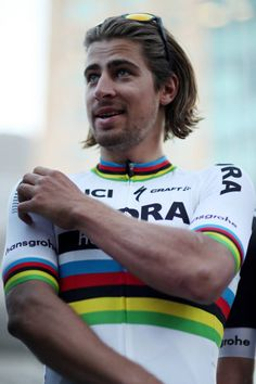Peter Sagan of Slovakia riding for Bora Hansgrohe attends the team presentation for the 2017 AMGEN Tour of California on May 12 2017 in Sacramento...
