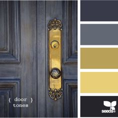 Designer Color Palettes: This is a classic palette but has a fresh overall feeling with the two accent colors--steel blue and yellow. Description from pinterest.com. I searched for this on bing.com/images
